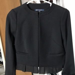 Brooks Brothers Wool Blend Stylish Black Blazer
